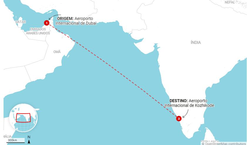 Avião se parte ao meio na ìndia