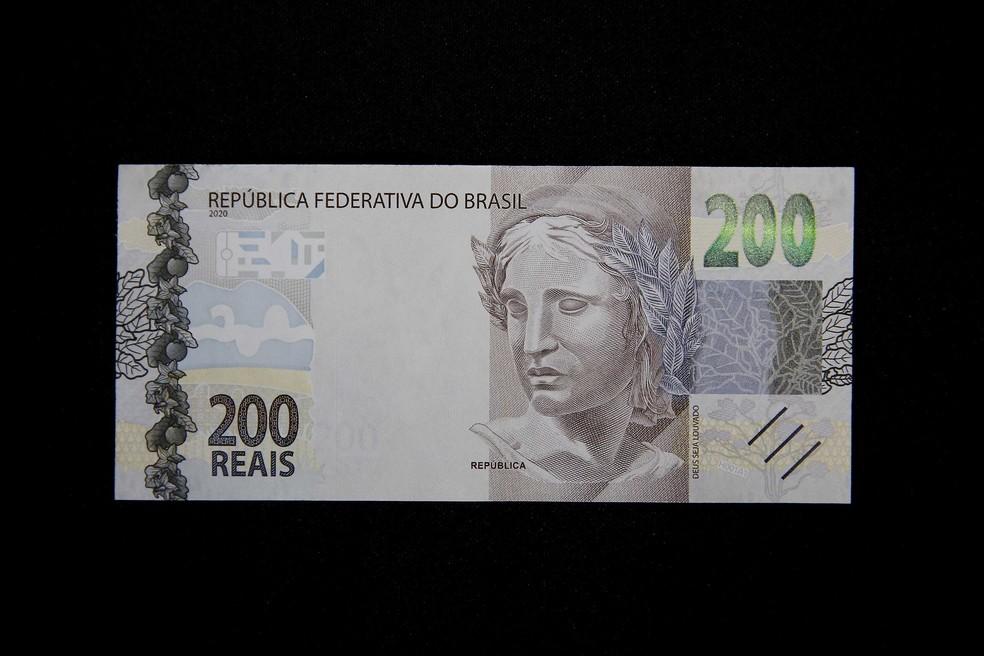 frente da nova nota de 200 reais